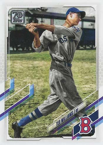 2021 Topps Series 2 Baseball Variations Ted Williams SSP