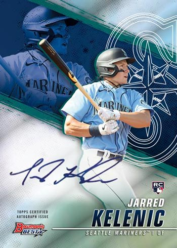 2021 Bowman's Best Baseball Best of 2021 Autographs Jarred Kelenic