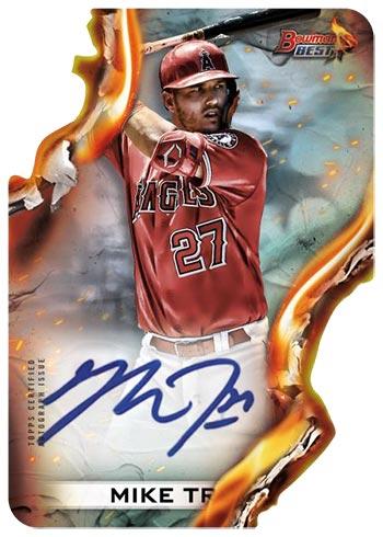 2021 Bowman's Best Baseball Heat Wave Autographs Mike Trout