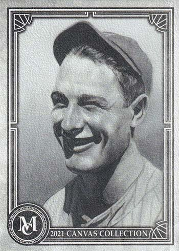 2021 Topps Museum Collection Baseball Canvas Collection Reprints Lou Gehrig
