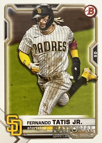 2021 Topps National Sports Collectors Convention Bowman Wrapper Redemption Fernando Tatis Jr.