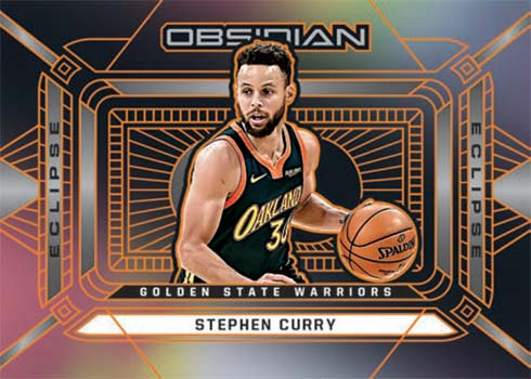 2020-21 Panini Obsidian Basketball Eclipse Stephen Curry