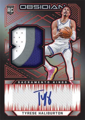 2020-21 Panini Obsidian Basketball Rookie Jersey Autographs Tyrese Haliburton