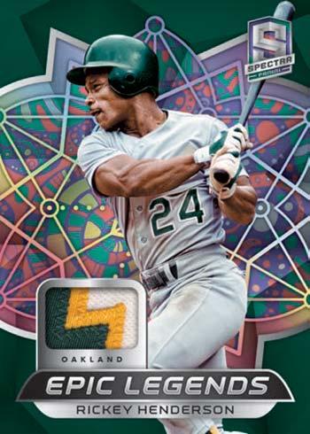 2021 Panini Spectra Baseball Epic Legends Rickey Henderson