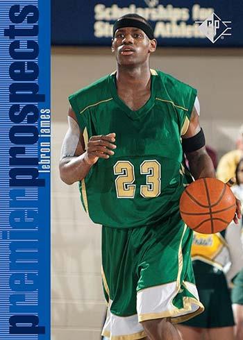 2021 Upper Deck SP Premier Prospects Basketball LeBron James