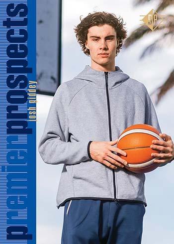 2021 Upper Deck SP Premier Prospects Basketball Gold Josh Giddey