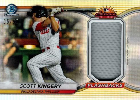2021 Bowman Chrome Baseball AFL Flashbacks Relics Scott Kingery