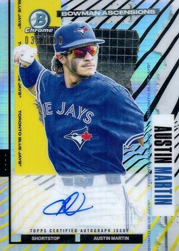 2021 Bowman Chrome Baseball Ascensions Autographs Austin Martin