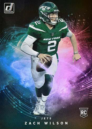 2021 Donruss Football Night Moves Zach Wilson