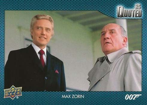 2021 Upper Deck James Bond Villains and Henchmen As Quoted Max Zorin