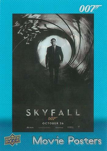 2021 Upper Deck James Bond Villains and Henchmen Movie Posters Skyfall