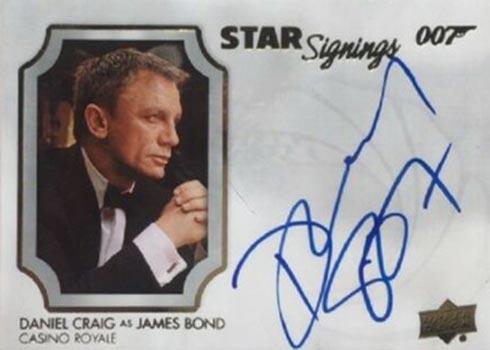 2021 Upper Deck James Bond Villains and Henchmen Daniel Craig Autograph