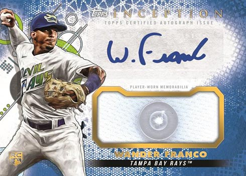 2022 Topps Inception Baseball Autograph Patch Blue Button Wander Franco