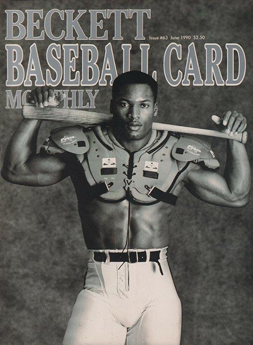 Beckett Baseball Card Monthly June 1990 Bo Jackson Baseball-Football