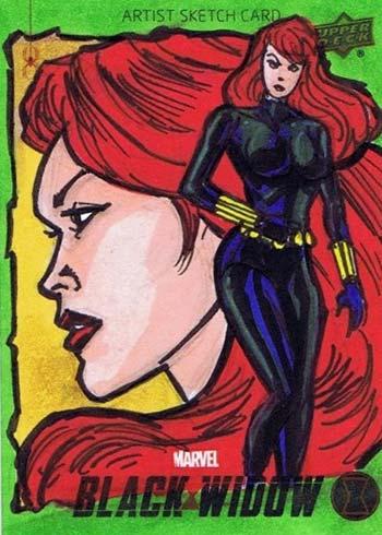 2021 Upper Deck Black Widow Sketch Card